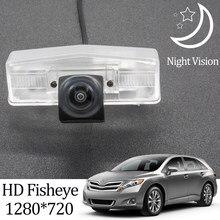 Owtosin hd 1280*720 fisheye câmera de visão traseira para toyota venza 2008-2017 carro reverso backup estacionamento acessórios