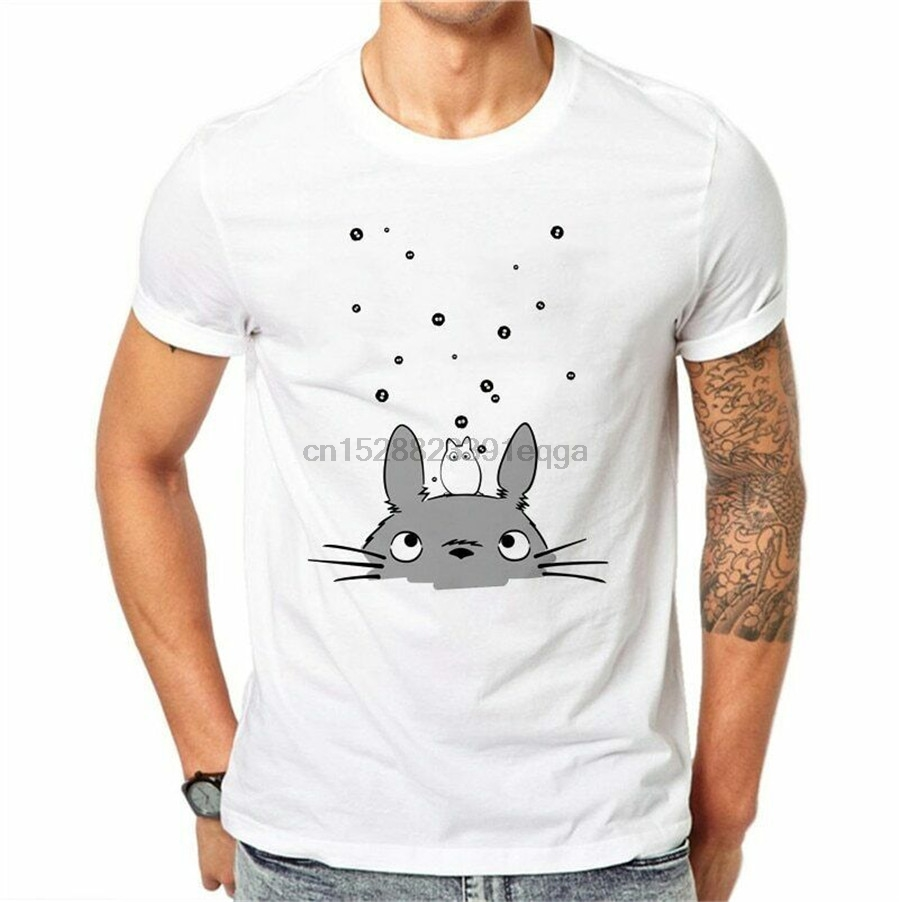 100% Cotton 3D Totoro Men Summer Tops Fashion Anime Print O-Neck Short Sleeve New Unisex Funny Tops Tee Shirt