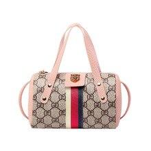 Women Crossbody Retro Printed Pillow Bags Female Versatile Fashion Contrast Color Hand Shoulder Bag Mobile Phone Package SS7595