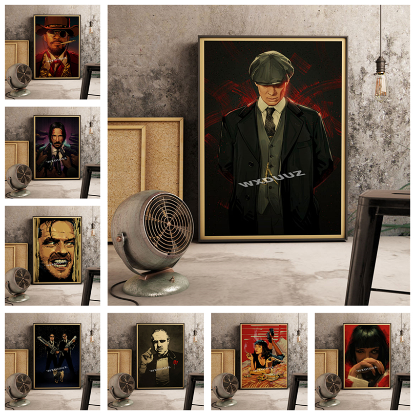 <font><b>Gangster</b></font> TV Wall Sticker Retro Nostalgia Classic Movie HD quality Home Decor Art Decor living <font><b>posters</b></font> canvas painting K774 image