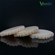 Monolayer PMMA Dental Prosthesis Disc 98mm Cad Cam Materials Vita 16 Shades For Temporary Bridge Crown Implant Denture Base
