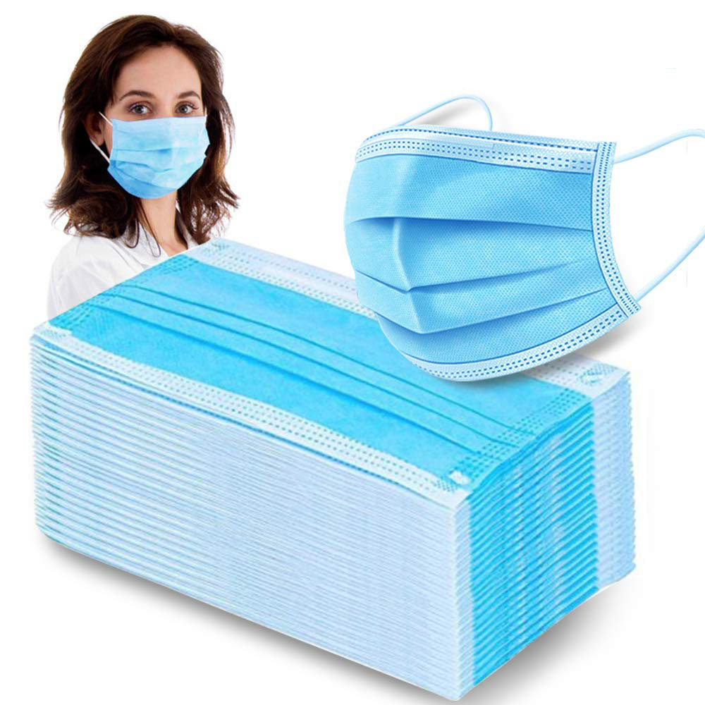 20/50/100pcs 4Layers Blue Color Activated Mask Air Pollution Prevent Anti-Dust Bacteria Repeatability Face Mask Mouth Civil