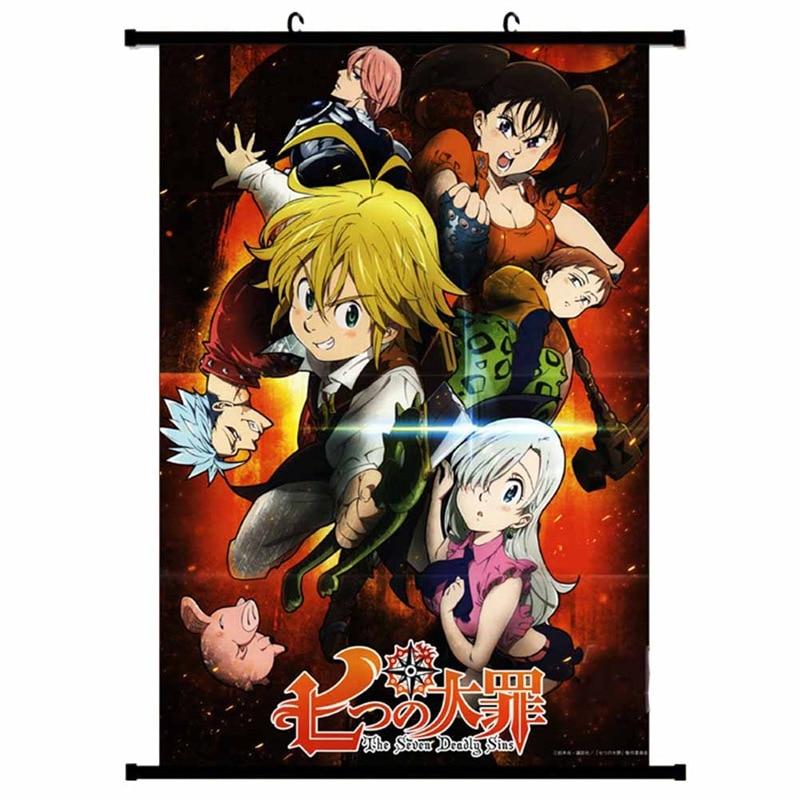 The Seven Deadly Sins Nanatsu No Taizai Meliodas X Elizabeth Anime Manga Wall Poster Scroll 2019