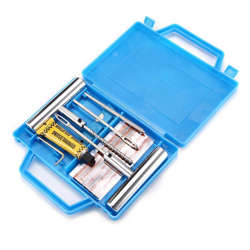 Kit de réparation de pneu Kit de réparation de crevaison pour moto moto Kit de pneu Tubeless robuste d'urgence