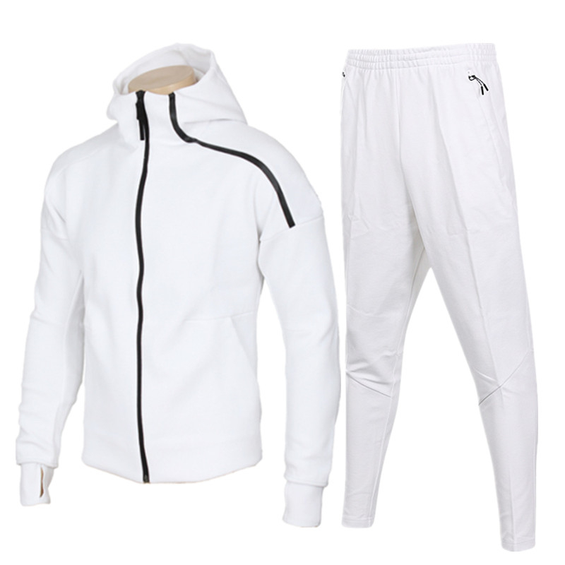 Bodybuilding Men Sporting Suit Men Suit Men Hoodies Sets Mens Gyms Sportswear Jogger Suit Male Tracksuit Sets