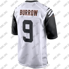 Jersey Cincinnati Customized 4XL Burrow Stitch White Youth Joe Kid 2-Game-Player ALTERNATE