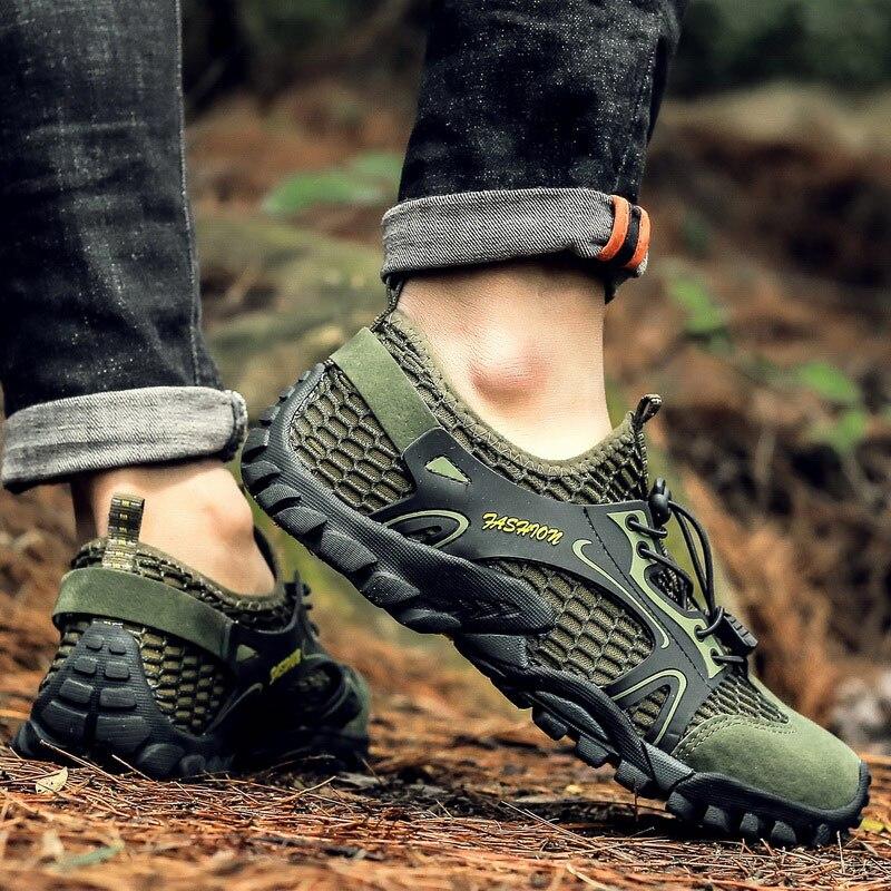Climbing Hiking Shoes Men Outdoor Trekking Zapatos De Hombre Breathable Treking Sneakers Trail Senderismo Sepatu Gunung Male