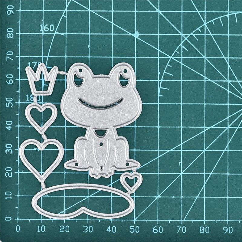 DiyArts Metal Cutting Dies New 2019 Lotus Leaf Love Frog Craft Dies Scrapbooking Album Die Cut Embossing Stencil Decor
