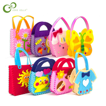 3Pcs Handmade EVA DIY Bags Cute Cartoon Crafts Sewing Puzzle Backpacks Toys For Kids Children Creative Learning Education YJN