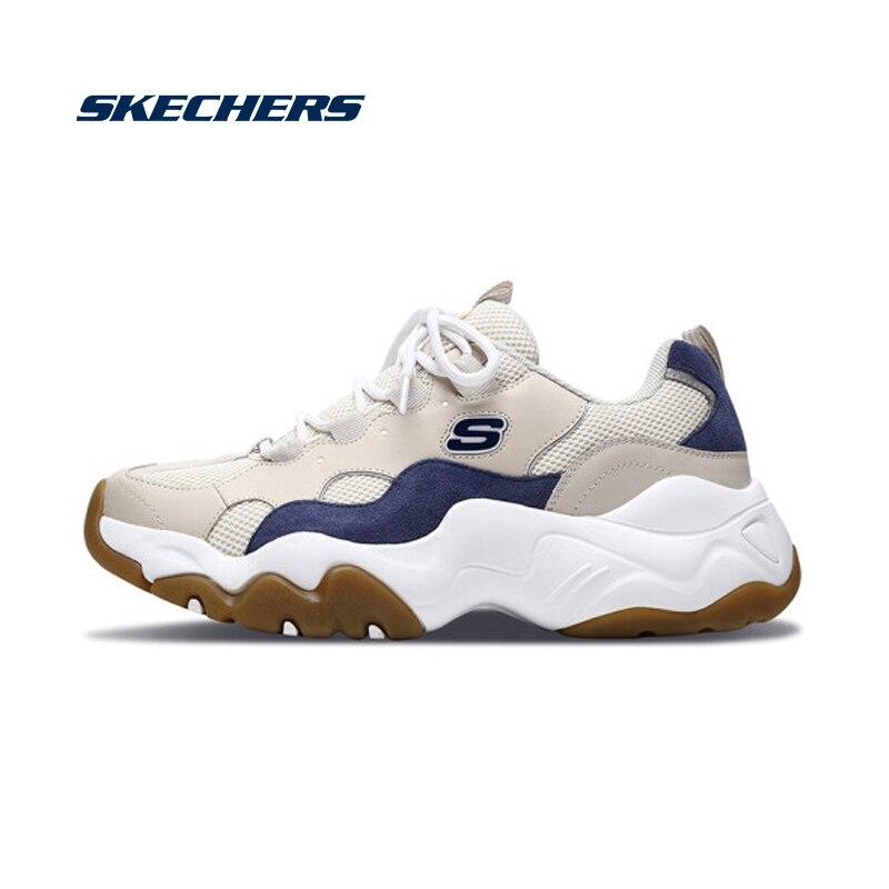Мужские кроссовки на массивной подошве Skechers, повседневные кожаные сетчатые удобные кроссовки, брендовая Роскошная прогулочная обувь, 999880 коричневый цвет|Повседневная обувь|   | АлиЭкспресс