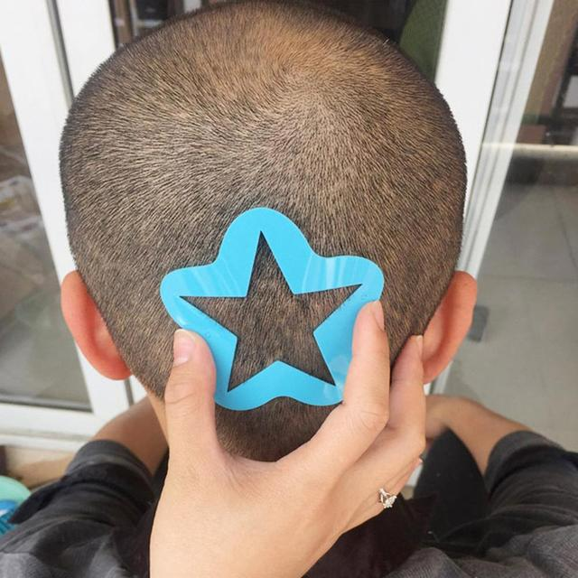 صالون لتقوم بها بنفسك تصفيف الشعر قالب الوشم الشعر المتقلب منحوتة تلوين نمط Stencil صبغ طلاء المجلس الصاعد