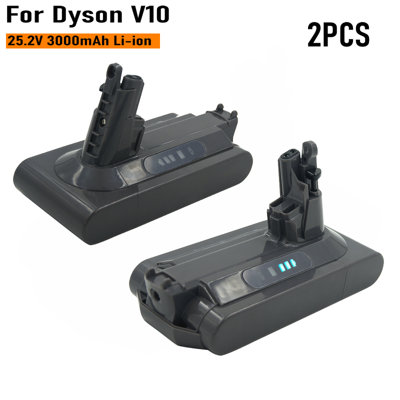 2 шт., аккумуляторная батарея SV12 V10, 25,2 в, 3000 мАч, литий-ионный пылесос для Dyson cyclone V10 ablity V10 Fluffy