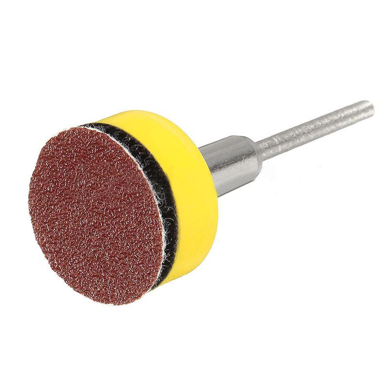 Mix SandPaper &Abrasives 1 Hook & Loop Backer Plate 1/8 Inch Shank 100 Pcs/Set