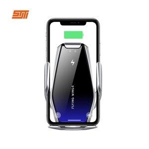 Image 4 - 15W Qi Drahtlose Auto Ladegerät Automatische Spann Schnelle Lade Drahtlose Ladegerät Auto Air Vent Halterung Telefon halter Für Smart telefon