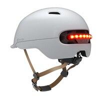 Casco de ciclismo ultraligero para hombre y mujer, Luz 2 en 1, 7 LED, moldeado integralmente, para bicicleta de montaña y carretera