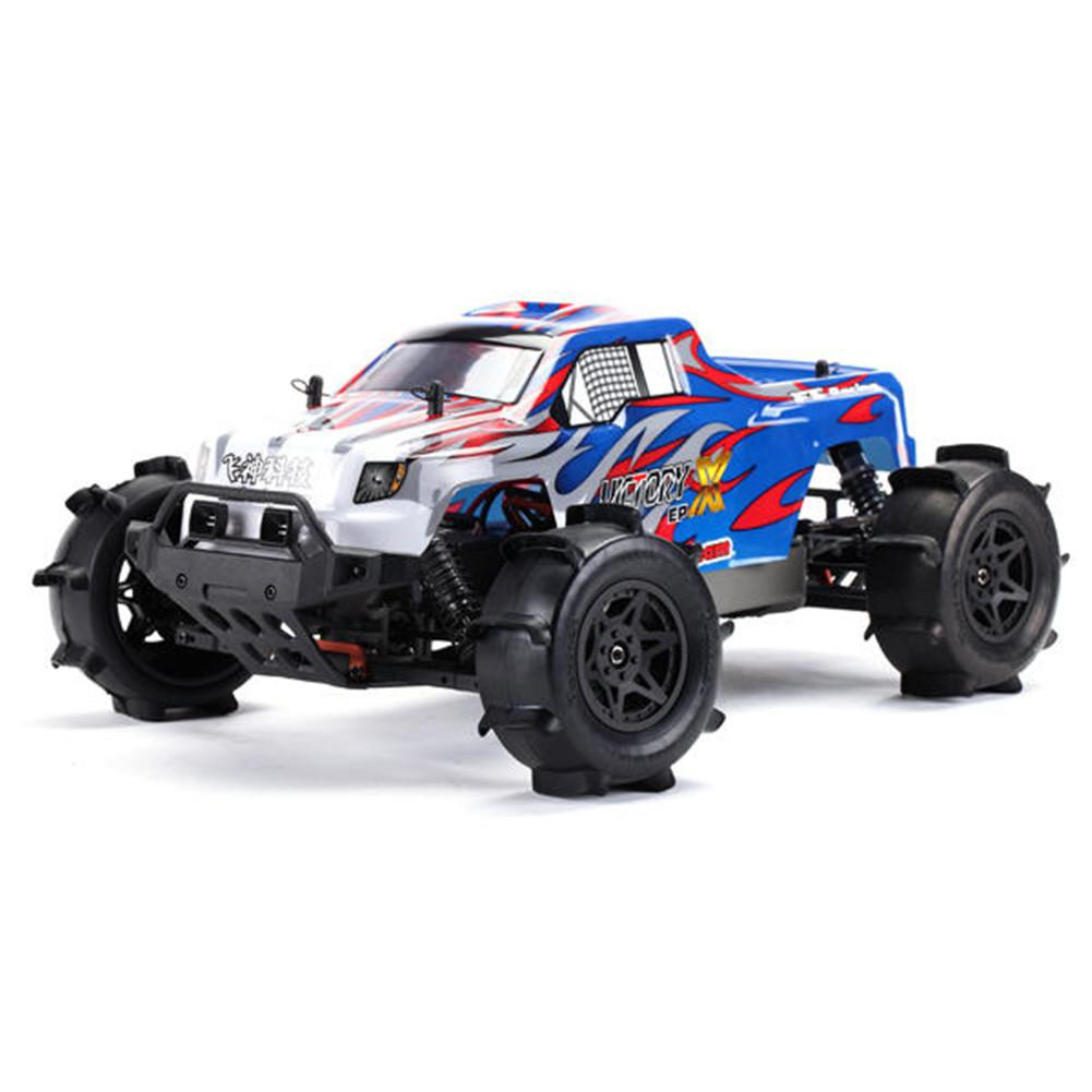 RCtown FS Racing <font><b>RC</b></font> <font><b>Car</b></font> FS-53692 <font><b>1</b></font>:<font><b>10</b></font> 2.4G <font><b>4WD</b></font> Brushless Water Truck Remote Control Kid Toy image