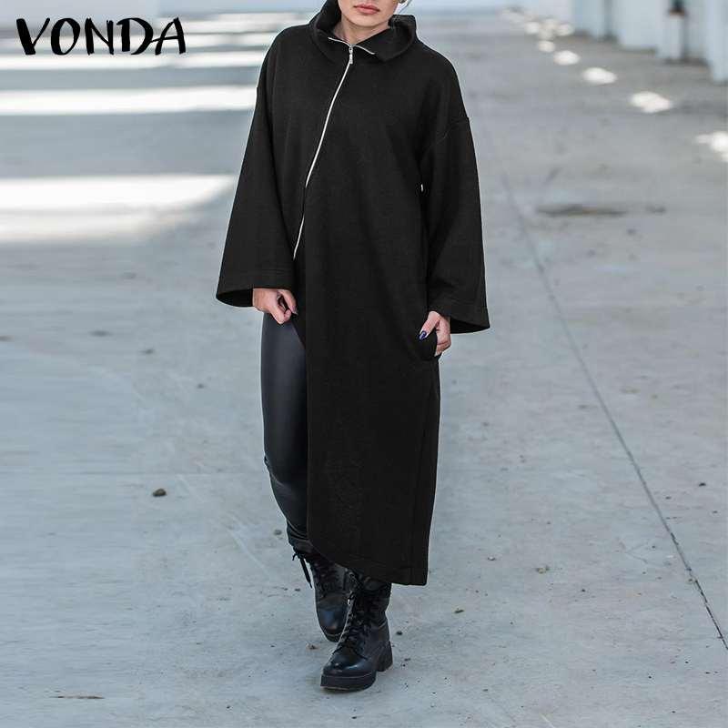 Пальто vonda женское с длинным рукавом модная Асимметричная