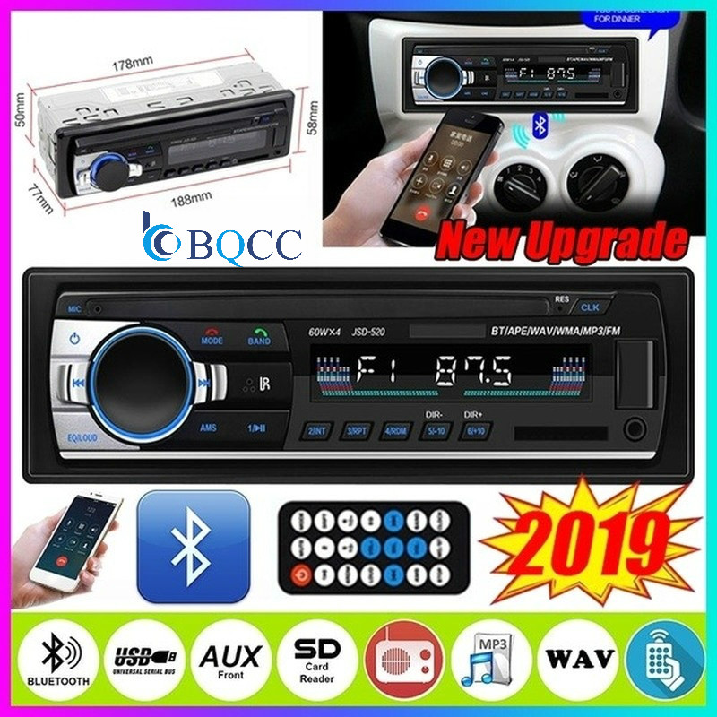 1 Din 12V Bluetooth Car Radio Car MP3 Player Support USB/SD MMC Port Car Stereo FM MP3 Audio Player Autoradio image
