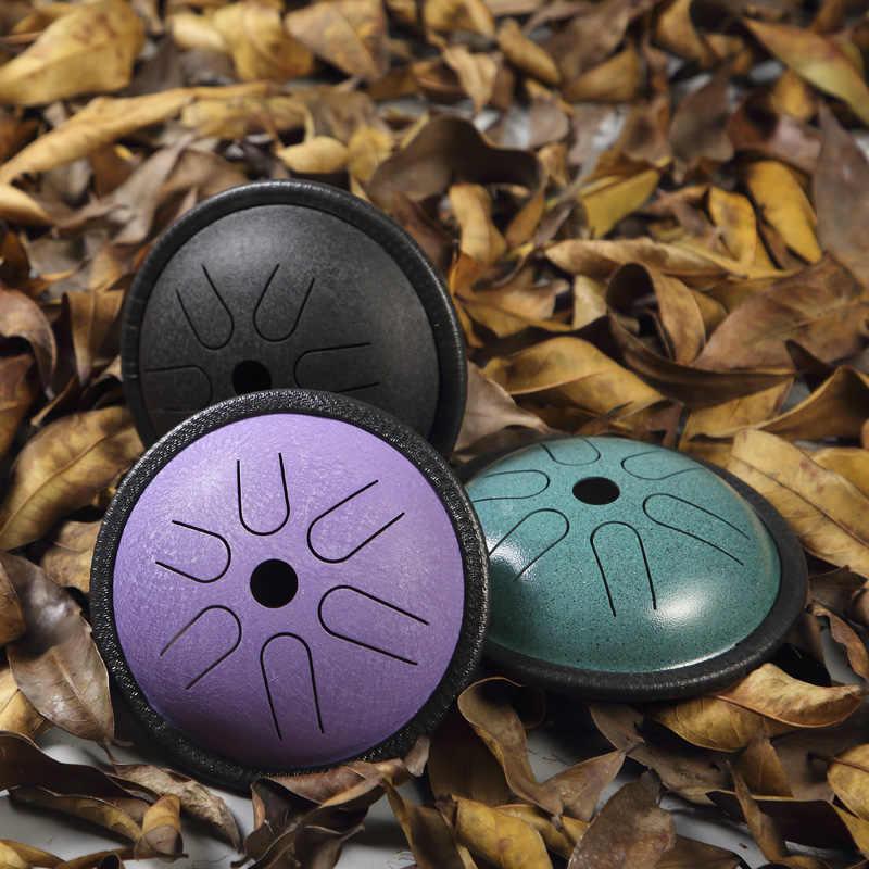 Lingua Tamburo In Acciaio Da 5.5 Pollici Lingua Tamburo 6 Tune Mano Pan Tamburo Strumenti A Percussione Accessori Serbatoio Con Bacchette Borsa Per Il Trasporto