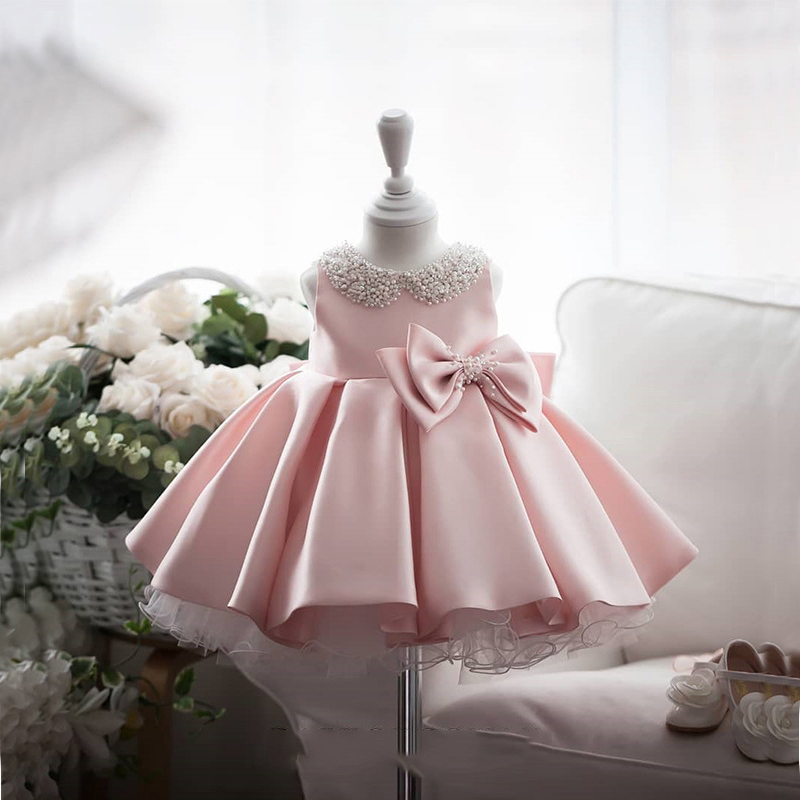 2021 летнее платье с юбкой-пачкой костюм для крещения 1st платье на день рождения для детей для маленьких девочек белое платье принцессы; Плать...