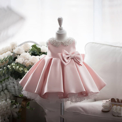 2021 sommer Tutu Kleid Taufe Kleid 1st Geburtstag Kleid Für Baby Mädchen Weiß Prinzessin Infant Kleid Party Perlen Kleider 2 1 jahr