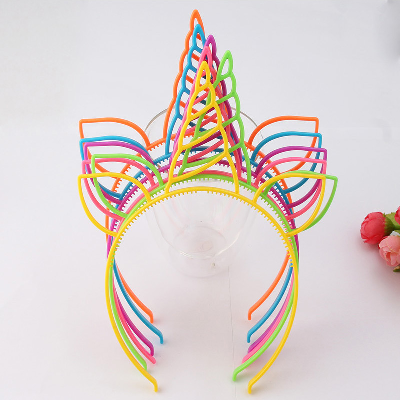 Unicorn Party Hair Accessories Mix Color Hairbands For Women Girls Christmas Birthday Gift Cat Ears Headband For Kids