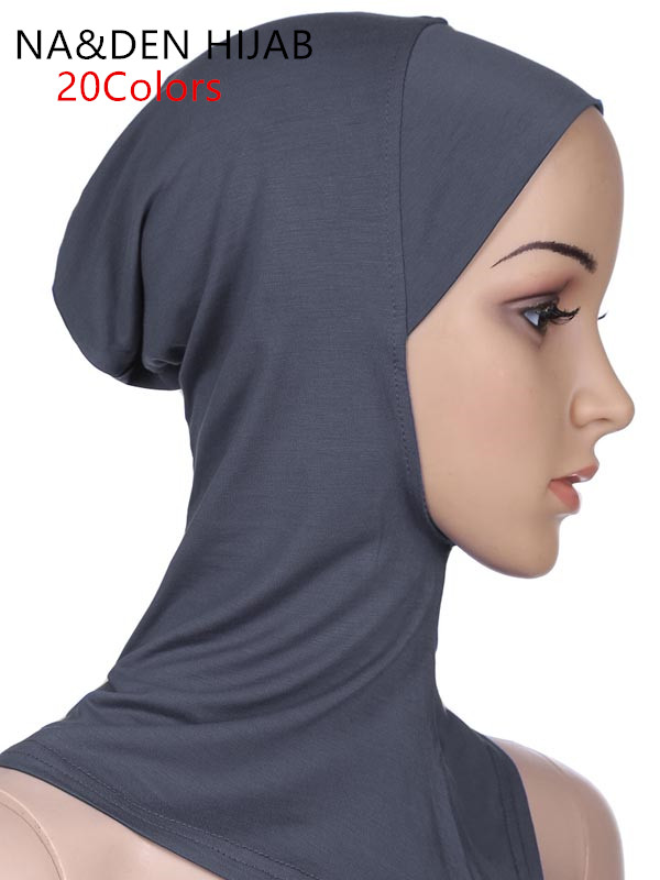 1PC Underscarf Hot Sale Soft Muslim Full Cover Inner Women's Hijab Bonnet Cap Headscarf Islamic Underscarf Neck Head Bonnet Hat