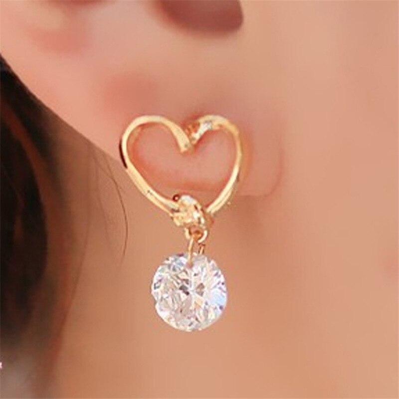2020 New Crystal Flower Drop Earrings for Women Fashion Jewelry Gold colour Rhinestones Earrings Gift for Party Best Friend