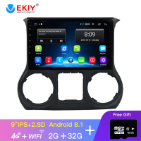 EKIY 9 IPS Car Radio For Jeep Wrangler 3 JK 2010 2012 2015 2016 2017 Car Multimedia Video Player Navigation GPS Android No 2din