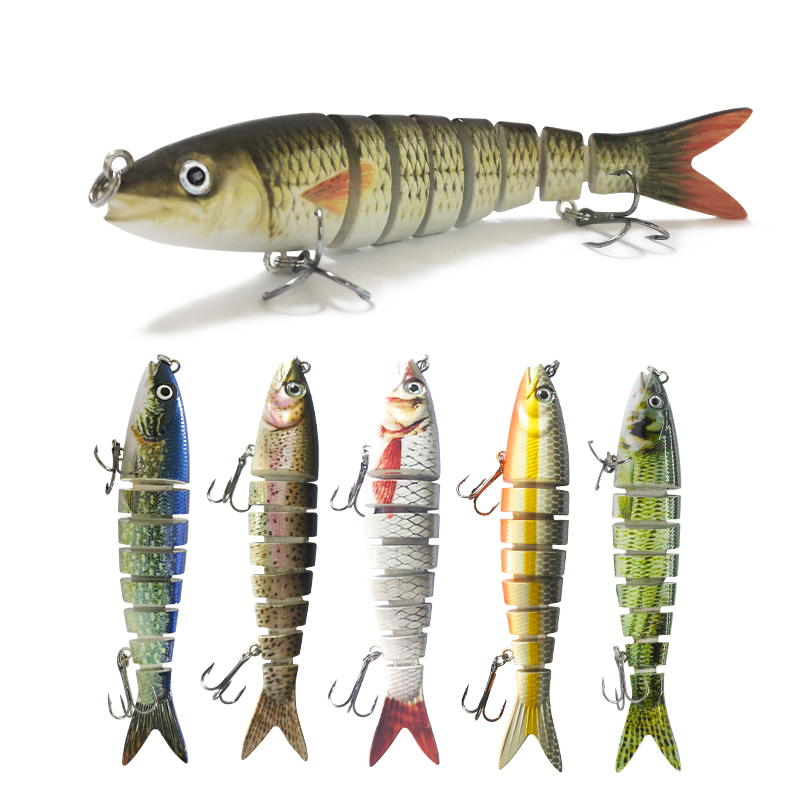 1pcPike Bass Swimbait Fishing Lure 13.5cm Multi Jointed Fish Crankbaits Artificial Hard Fishing Bait Wobblers Tackle Pesca