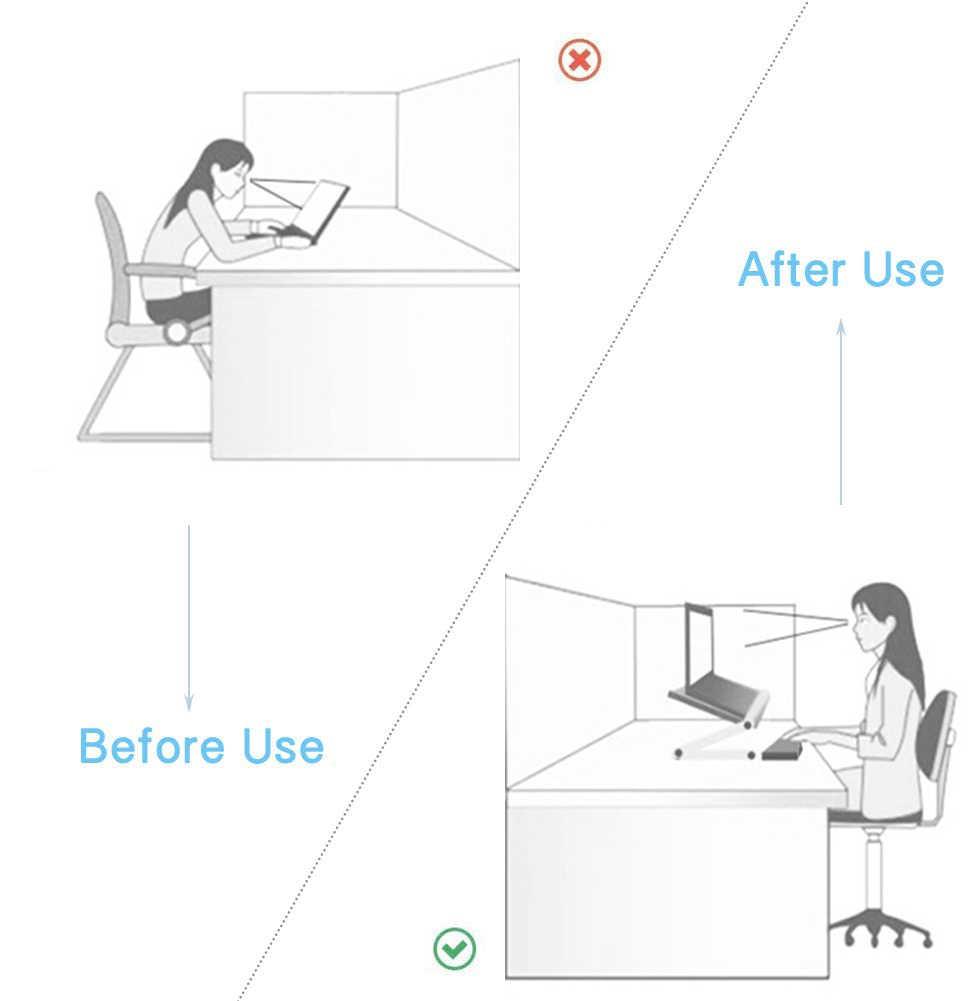 Регулируемая Эргономичная подставка для ноутбука, столик для кровати, гостиной, Книжная стойка, регулируемый компьютерный стол на 360 градусов