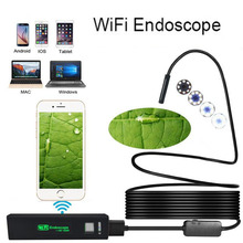 WIFI Endoscope Camera HD 1200P 2M Mini Waterproof Hard Cable Wireless 8mm 8 LED Endoscope Camera For Android PC IOS Endoscope kerui wifi endoscope camera hd 1200p 8mm waterproof soft hard cable inspection mini camera for ios android windows endoscope