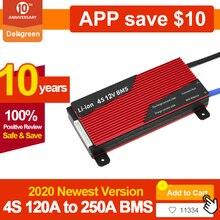 Deligreen BMS 4S 12V 80A 100A 120A 200A PCB BMS ل 3.2V LiFePO4 بطارية 18650 ليثيوم بطارية حزمة