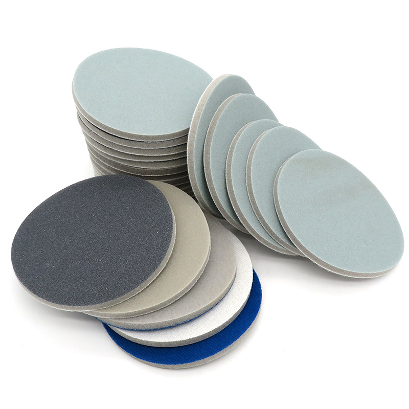 4-Inch 100MM Sponge Block Round Plates Hai Mian Sha Elastic Amber Mahogany Jade Polishing 3000 Mesh