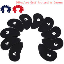 Golf-Iron-Head-Covers Putter Golf-Accessories Protective Golf-Club Black Window Number
