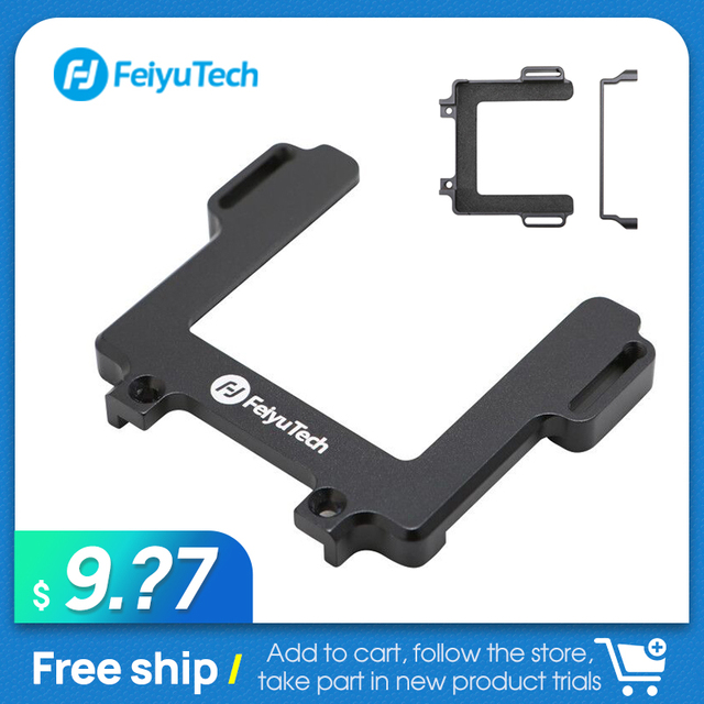 FeiyuTech Handheld Gimbal Stabilizer Mount Plate gopro Adtapter for action camera of Gopro Hero 8 Action Camera  for G6 Gimbal
