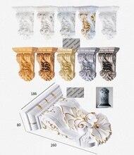 Composto de aço plástico europeu em relevo corbel corbels mobiliário arquitetônico decoração ouro prata pintura à mão antiga