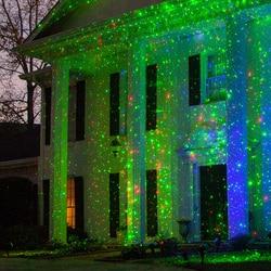 Thrisdar открытый Сказочный Небесный Звездный Рождественский лазерный проектор душ садовый газон зеленый красный лазерный точечный светильни...