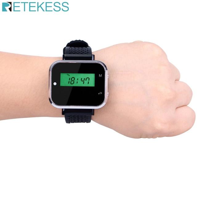 Retekess bezprzewodowy System przywoływania kelnera wyposażenie restauracji zegarek odbiornik biuro Cafe Call Pager F3300A