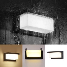 Modern Outdoor LED Wall Lamps Aluminum Waterproof Garden Sconces Balcony Stair Exterior Home Decorations Wall Lighting Luminaire