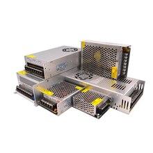 Светодиодный Питание 5В 12В импульсный источник Питание 24В преобразователь 220 В до 12 В 2A 5A 10A 15A 20A 30A адаптер переменного тока импульсный источ...