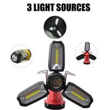 Foldable COB Flashlights Multi-functional Car Maintenance Torch USB Charging LED Workshop Lamp Deformable Outdoor Camping Light