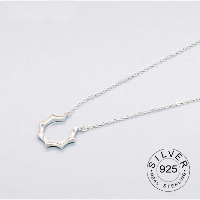 925 Sterling Silver Korea Lord Sun's Sun Clavicle Chain Sign Necklace Imitation Allergy Birthday Gift Wholesale