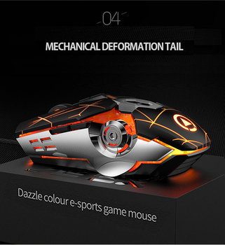 Gaming Keyboard Mouse Mechanical Feeling RGB LED Backlit Gamer Keyboards USB Wired Keyboard Computer Game Keyboard For PC Laptop 5