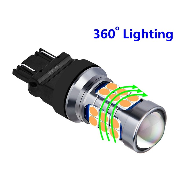 1Pcs 1156 BA15S P21W 1157 BAY15D P21/5W BAU15S T15 W16W T20 7443 W21/5W 7440 W21W T25 3157 LED Car Brake Light Auto Reverse Lamp|Signal Lamp|   -