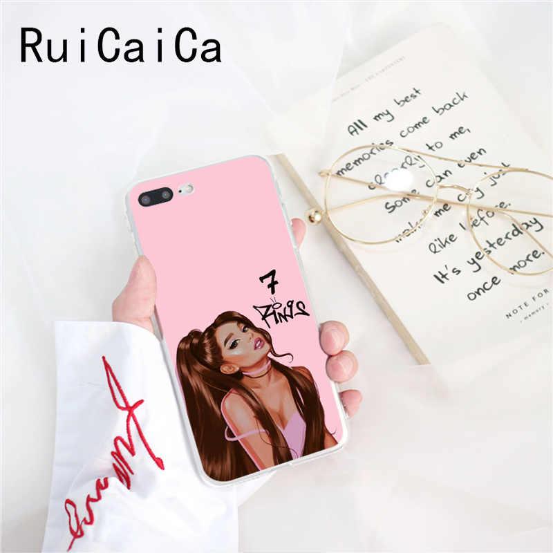 Ruicaica Ariana Grande-7 วงแหวนหรูหราออกแบบโทรศัพท์ที่ไม่ซ้ำกันสำหรับ iPhone 8 7 6 6S Plus X XS MAX 5 5S SE XR 10 ฝาครอบ