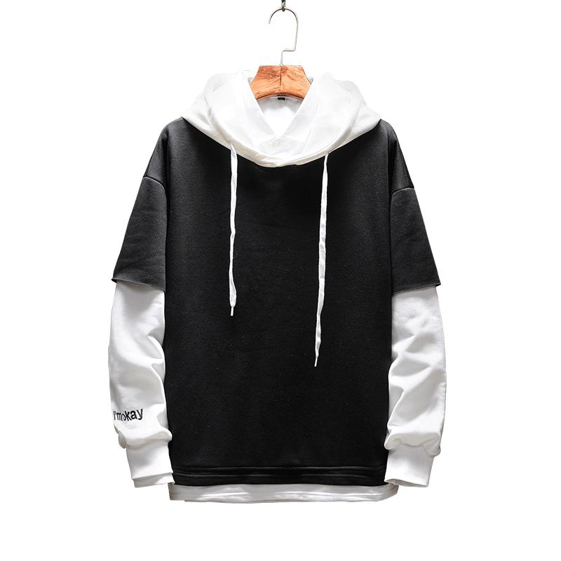 Pullover Plaid Long Sleeve fleece Hoodies Shirts Mens Hip Hop hoody hoodies Casual Shirts Fashion  japanese streetwear
