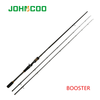 JOHNCOO BOOSTER 2.1m 2.4m Carbon Baitcasting Rod M/ML Power  Ex fast Action Spinning Rod 2 Tips KR SiC Ring Casting Fishing Rod|Fishing Rods| |  -