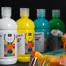 24 colors Gouache paint 500ml non-toxic watercolor big canned white advertising painting bucket Acrylic paint original south korean high quality very good wcs 103water colors 24 colors 7 5 ml watercolor oil paint