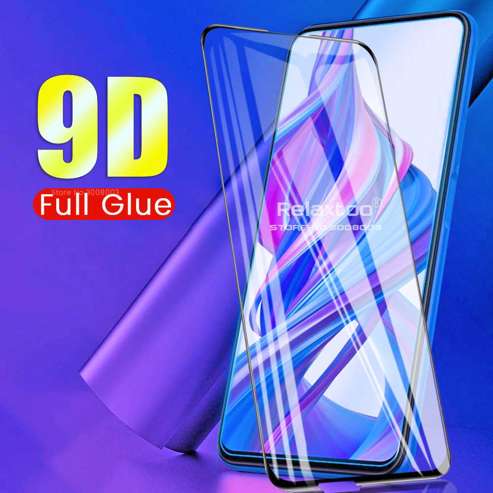 9D フル接着剤 Honor9X Glas スクリーンプロテクター強化ガラス Huawei 社の名誉 9X/9X プロ強化保護ガラスフィルムカバー
